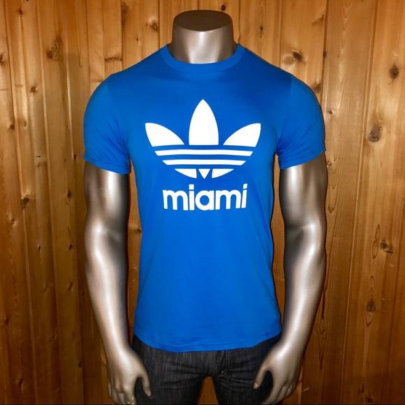 Miami Tshirt Medium Mens Adidas Poshmark Shirts Trefoil Nwt gxZqYOEY